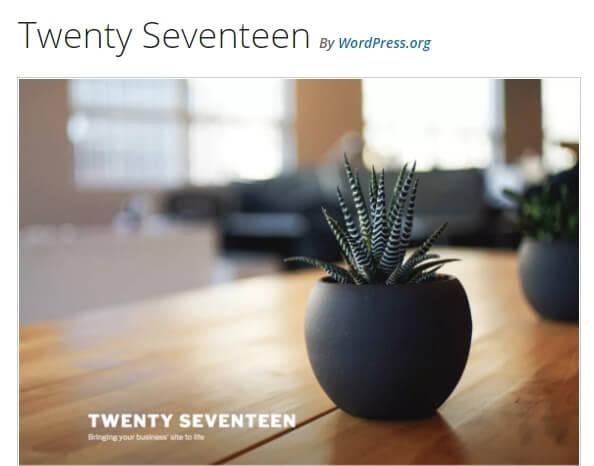Twenty Seventeen teması.