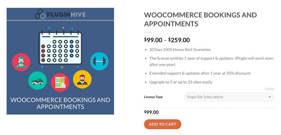 WooCommerce Bookings & Appointments WordPress rezervasyon eklentisi