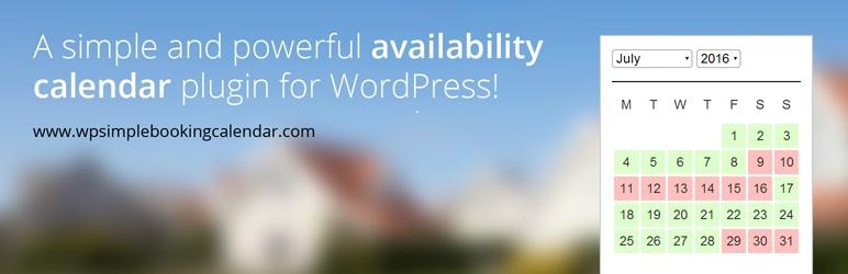 WP Simple Booking Calendar WordPress rezervasyon eklentisi