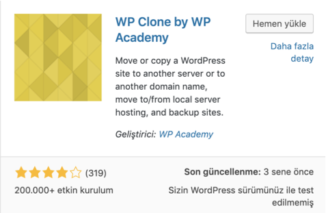 WP Clone by WP Academy WordPress eklentisi