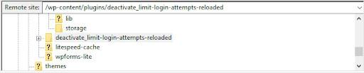 FTP istemcisinden eklentiyi devre dışı bırakma