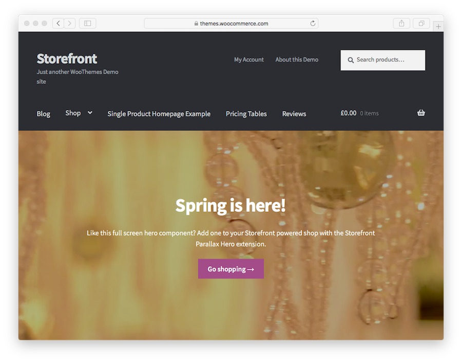 StoreFront ana sayfası