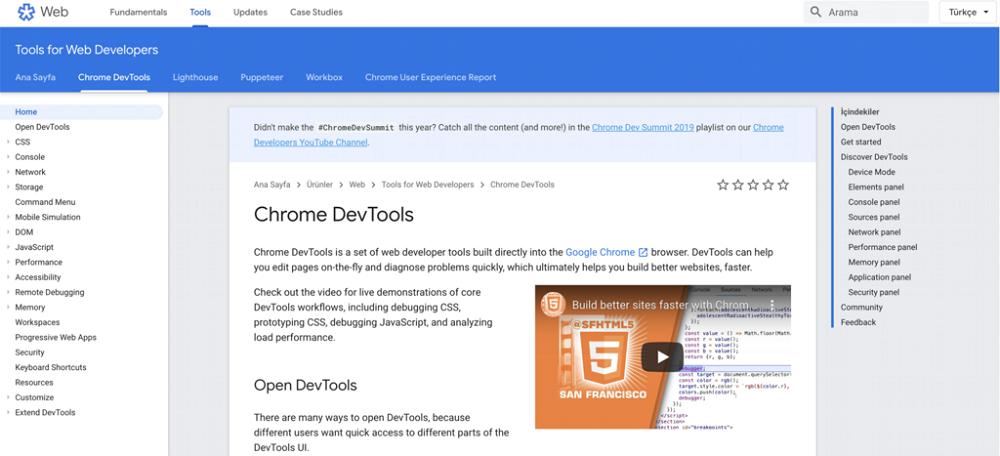 Chrome Dev Hız Testi Aracı