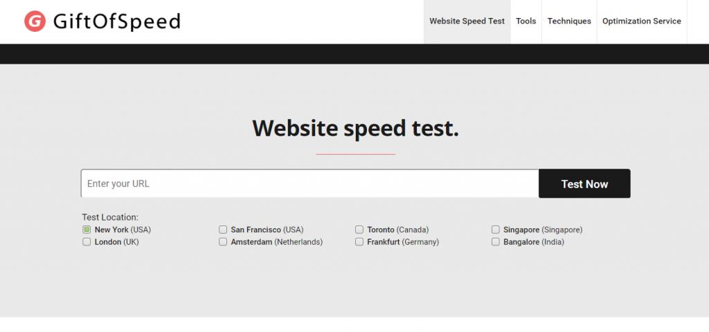 GiftofSpeed hız testi aracı