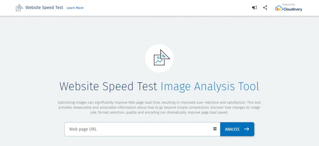 Image Analysis Tool hız testi aracı