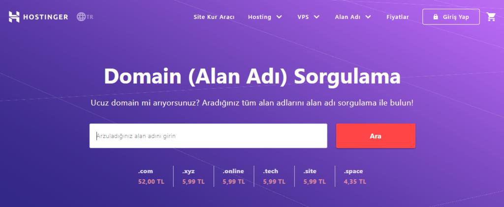 Hostinger Domain Sorgulama