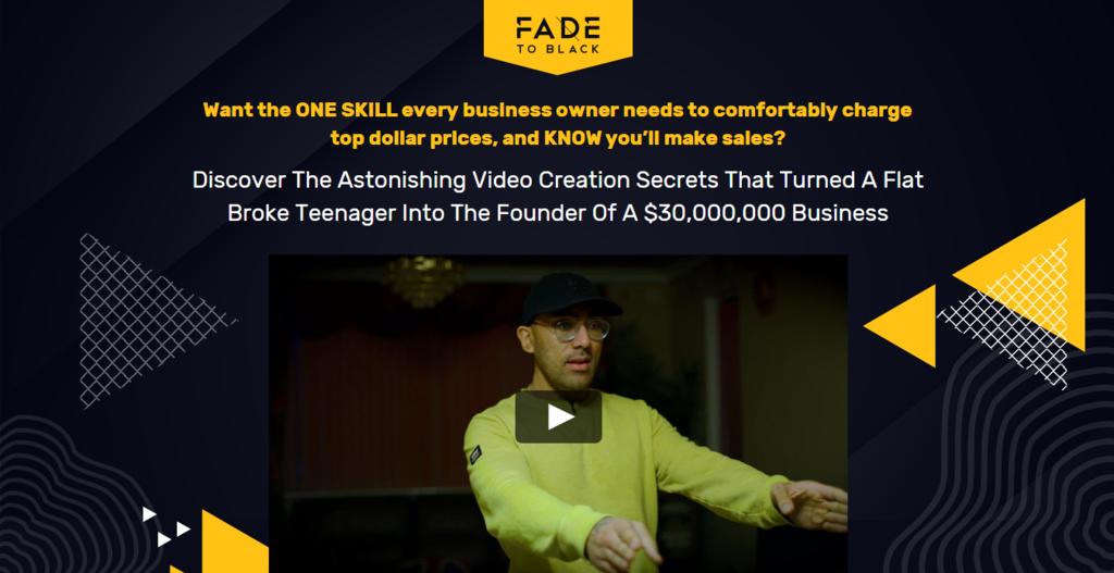 Evden para kazanma örneği Fade to Black ana sayfası