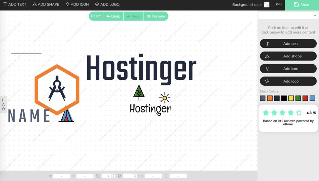 FreeLogoDesign'ı kullanarak bir logo oluşturma