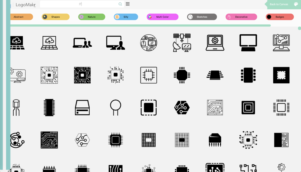 LogoMakr'ın tasarımları ve şablonları