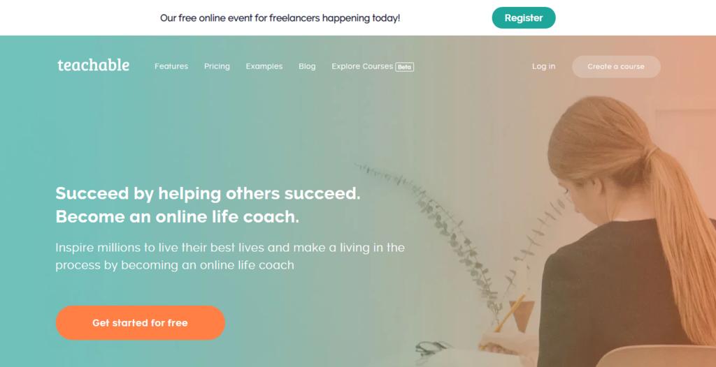 Teachable ana sayfası