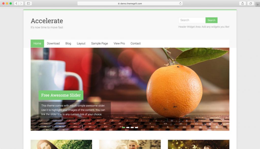 Accelerate WordPress teması