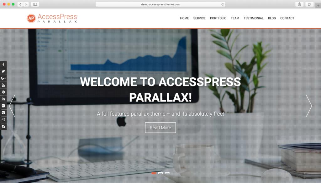 AccessPress Paralaks WordPress teması