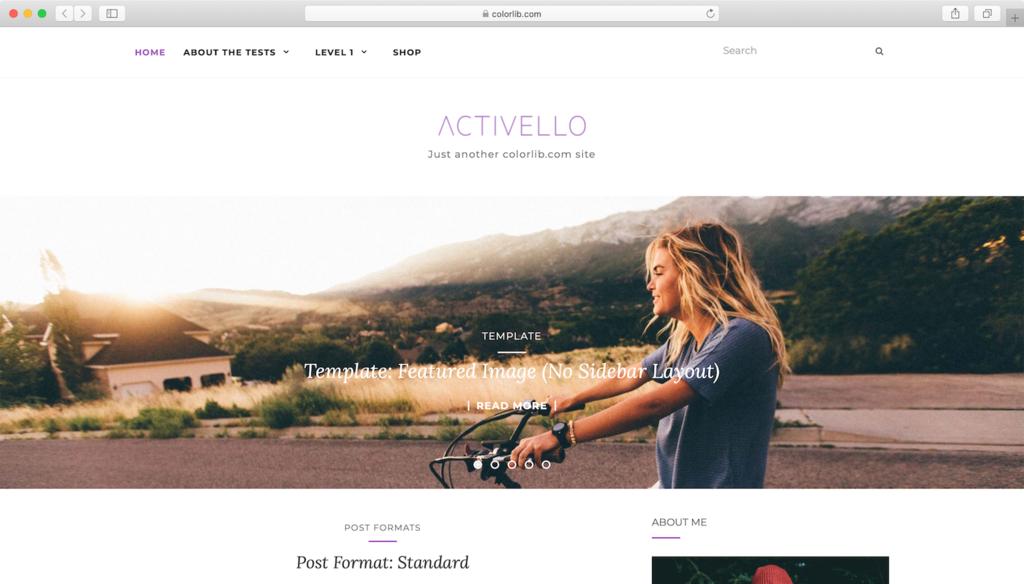 Activello WordPress teması