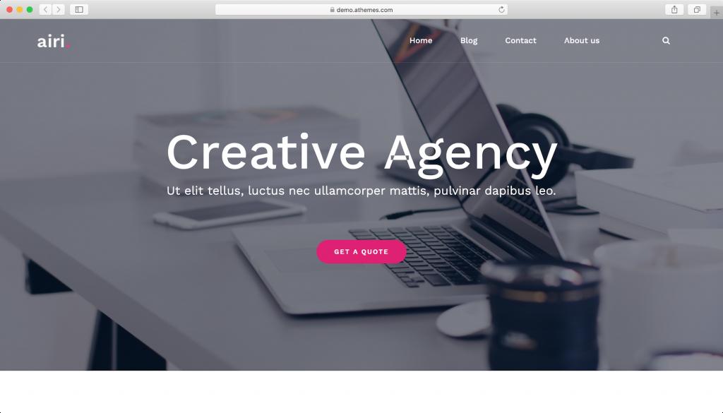 Airi WordPress teması