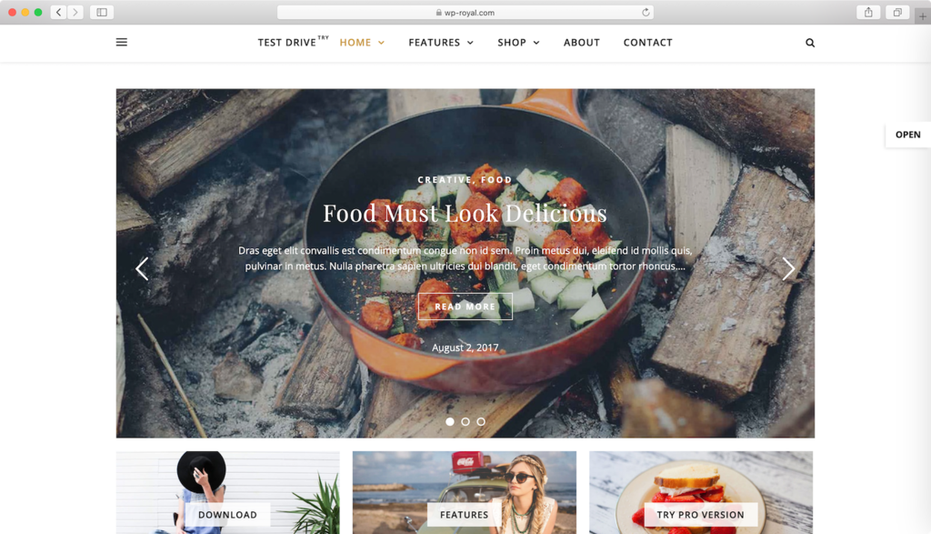 Ashe WordPress teması