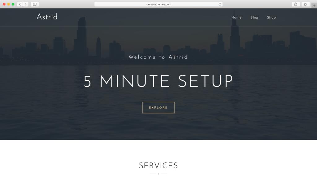 Astrid WordPress teması