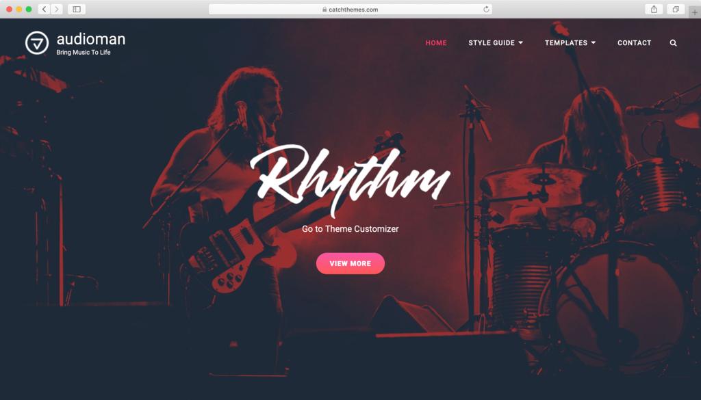 Audioman WordPress teması
