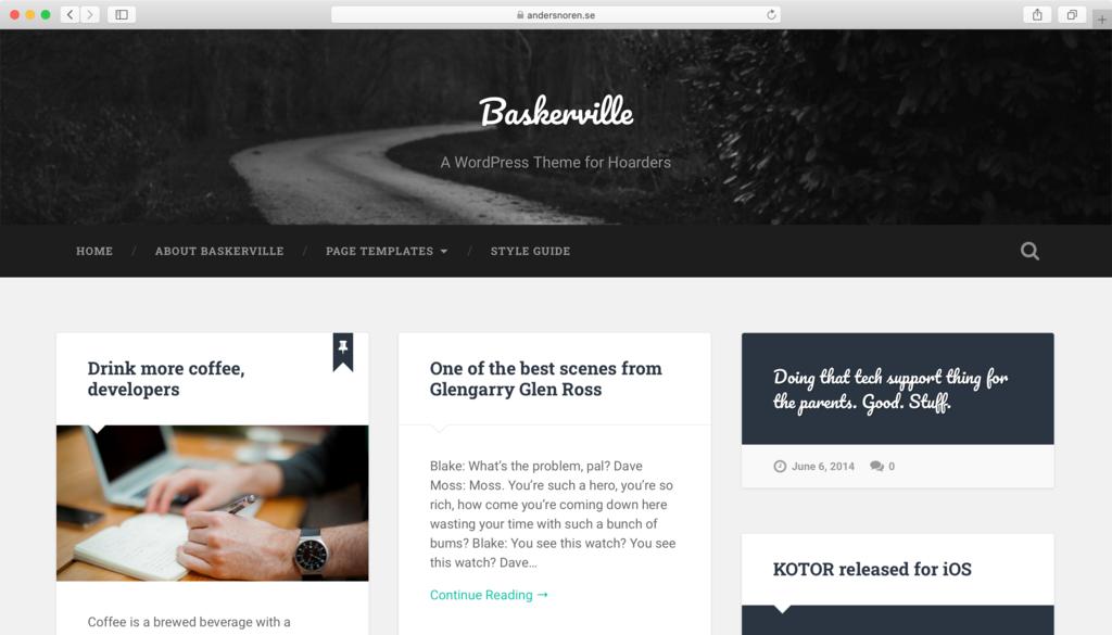 Baskerville WordPress teması