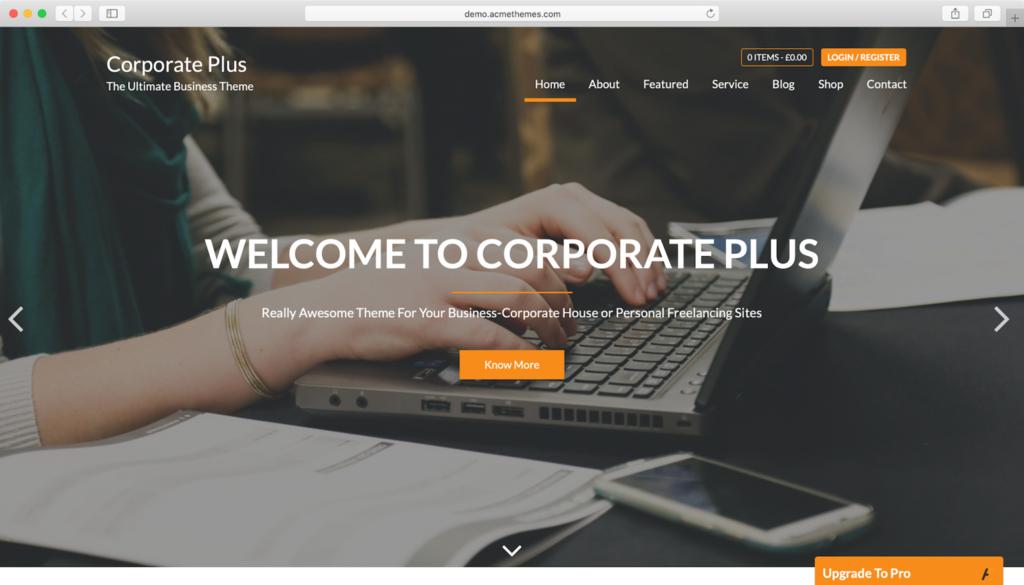 Corporate Plus WordPress Tema