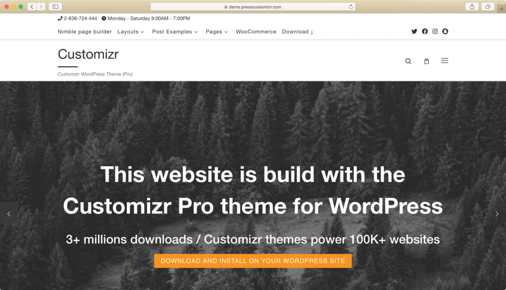 Customizr WordPress teması