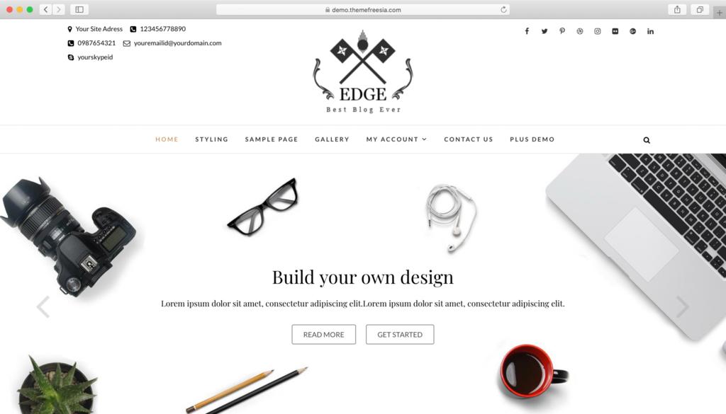 Edge WordPress teması