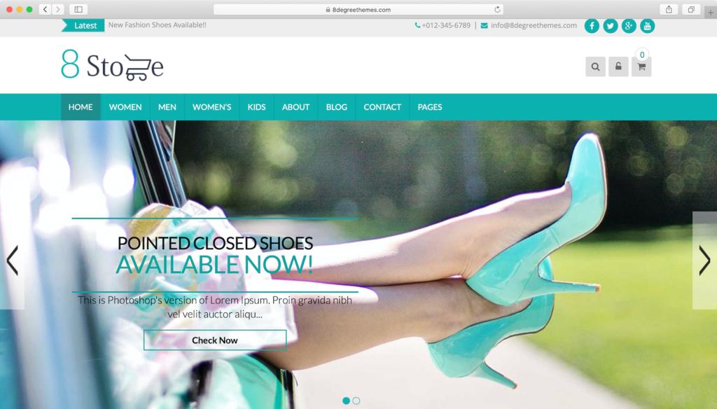 EightStore Lite WordPress tema
