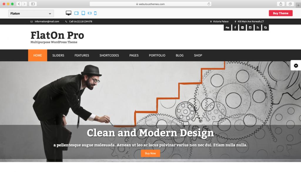 FlatOn WordPress teması
