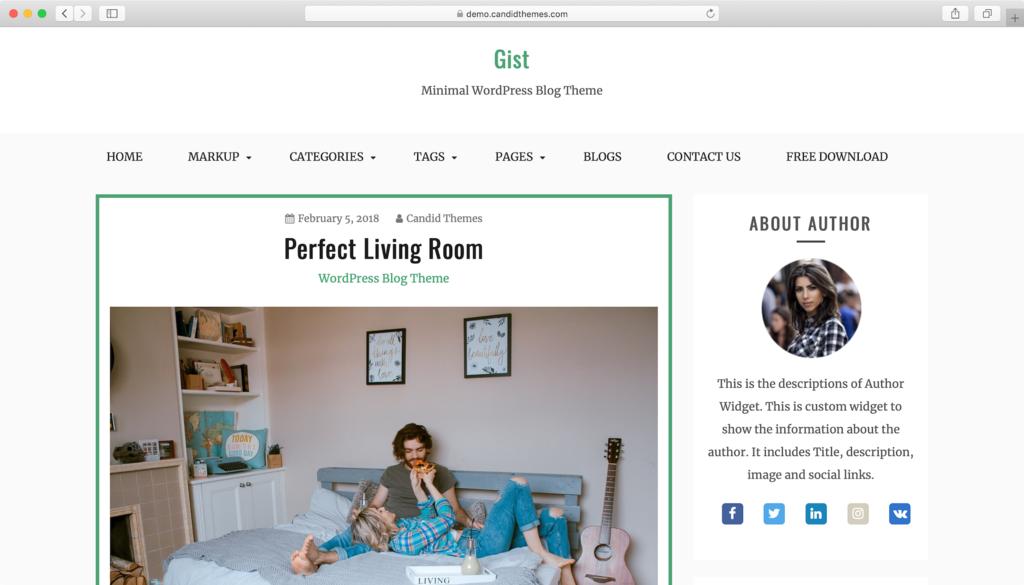 Gist WordPress teması