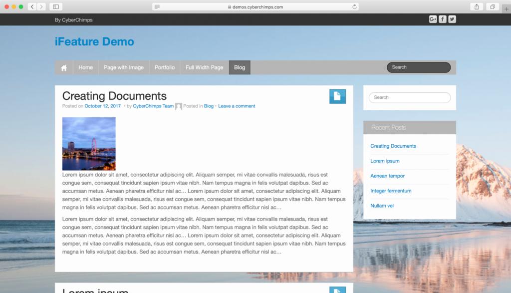 iFeature WordPress teması