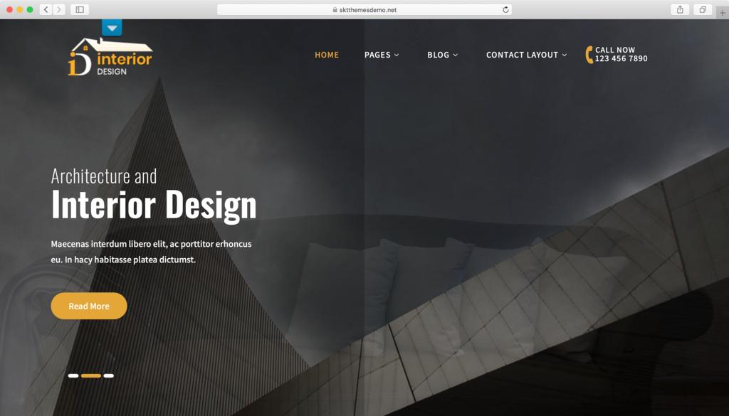 Interior Lite WordPress teması