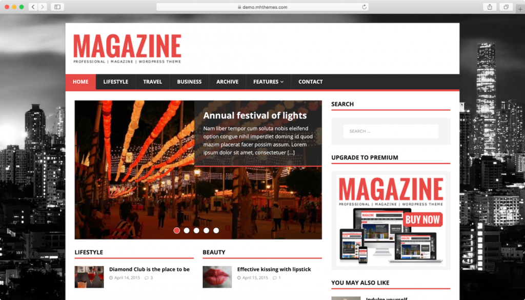 MH Magazine Lite teması