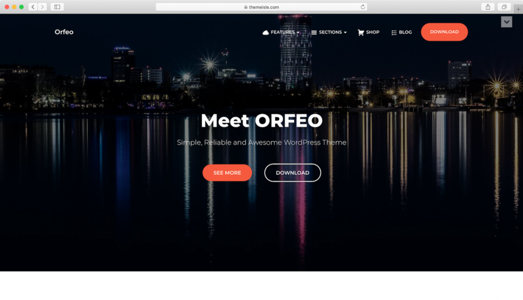 Orfeo WordPress teması