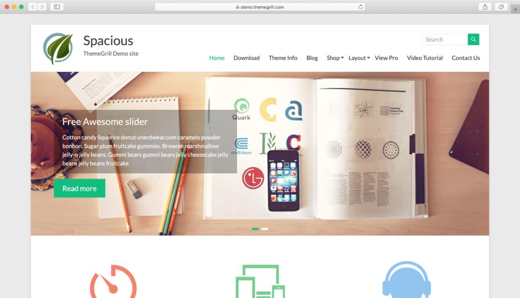 Spacious WordPress tema