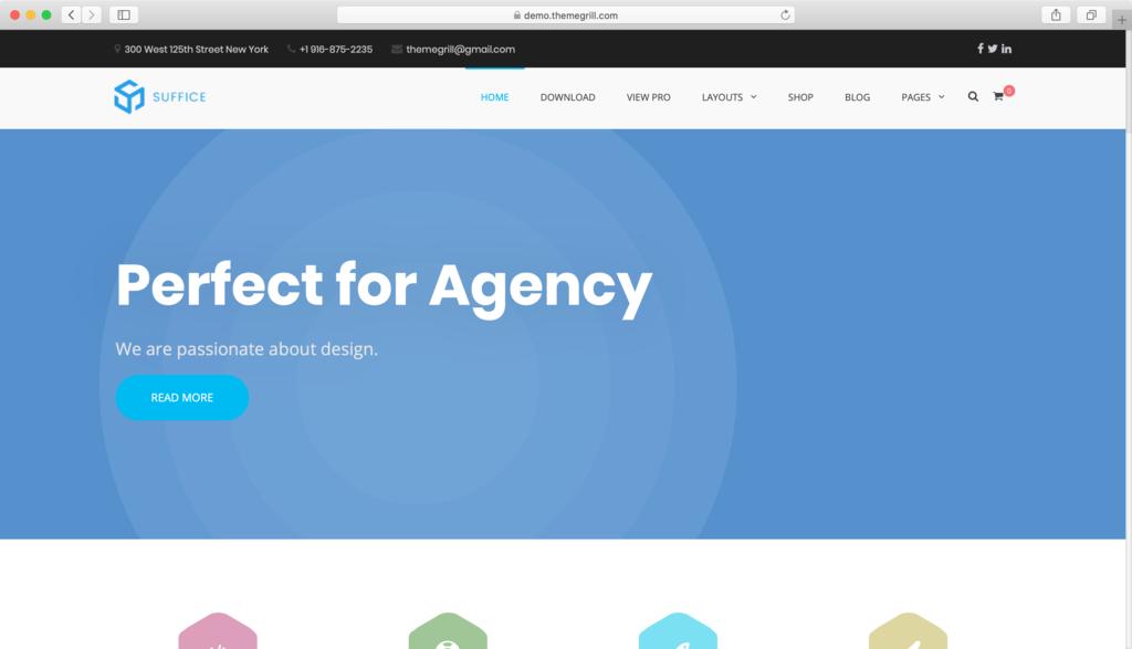 Suffice WordPress tema