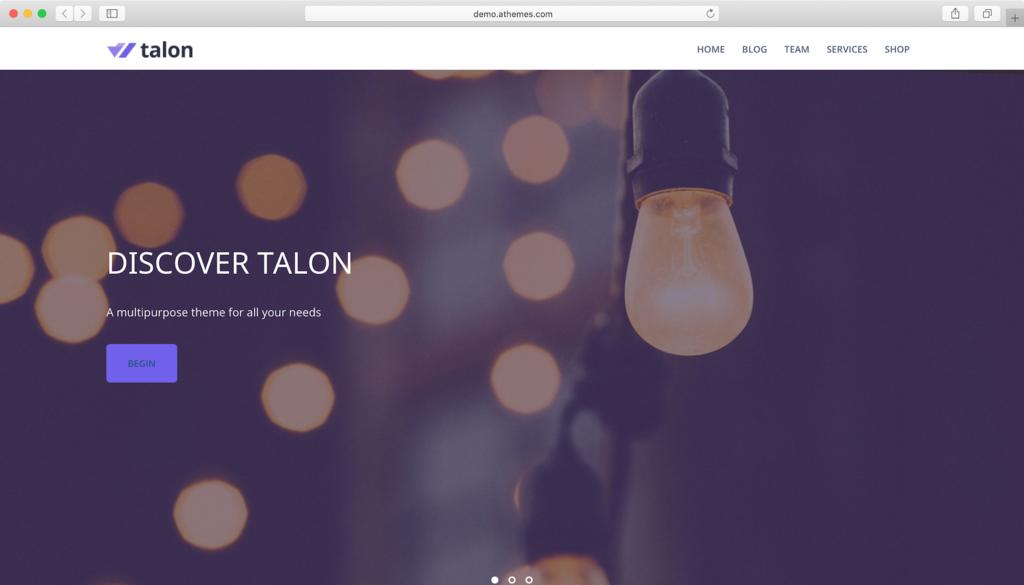 Talon WordPress teması
