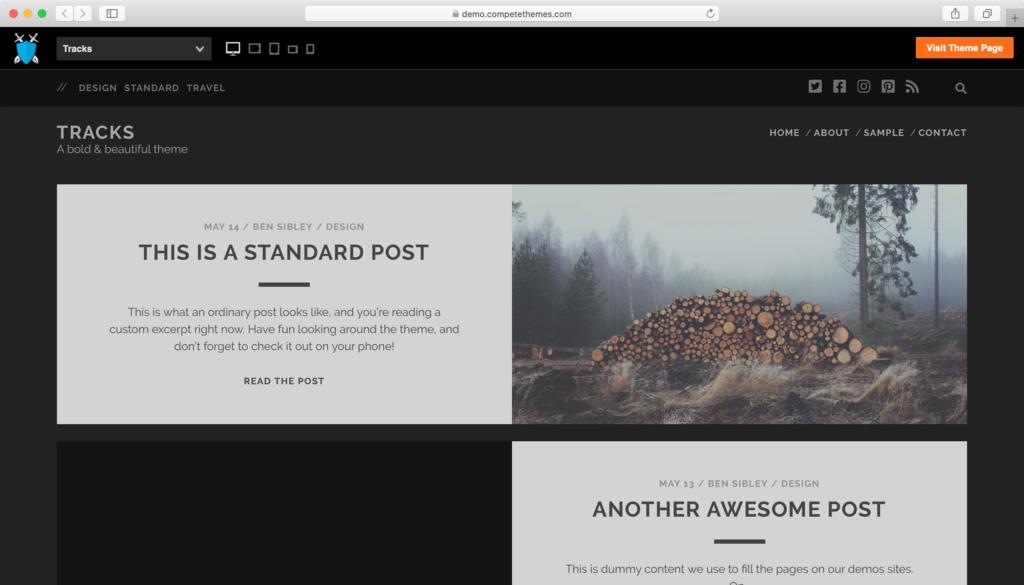 Tracks WordPress teması