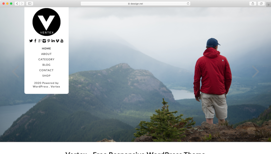 Vertex WordPress teması