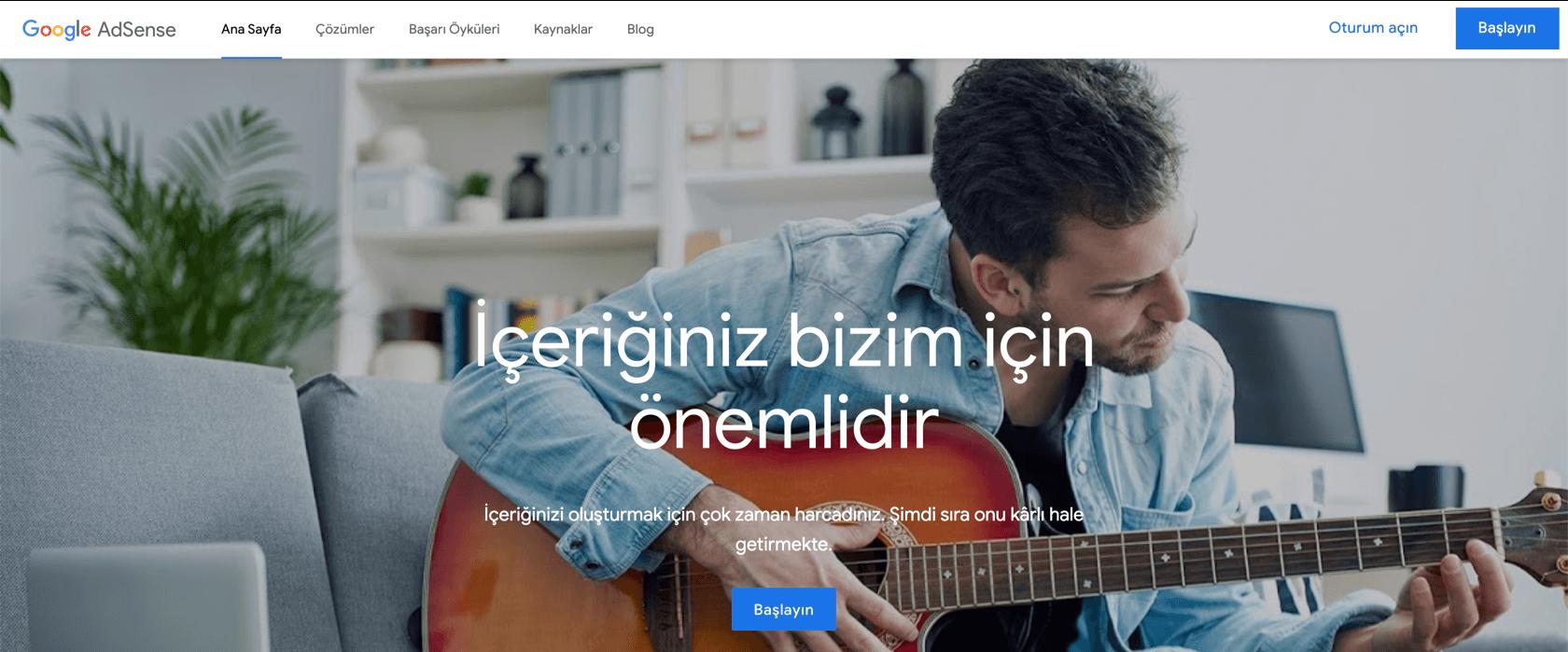 Google Adsense ile internetten para kazanma
