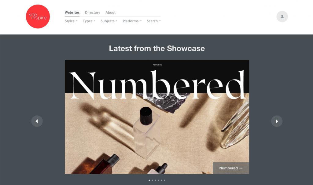 siteInspire, Web Tasarım Örnekleri için ilham kaynağı