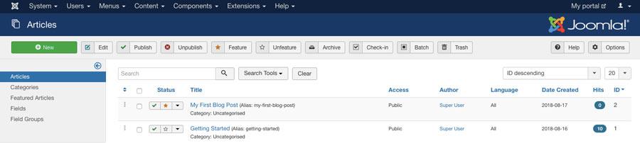 Joomla CMS'de blog gönderileri oluşturma