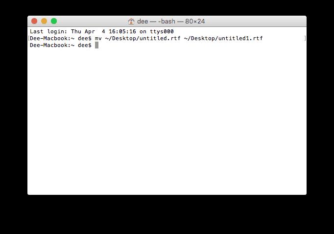 MacOS Terminalini kullanarak dosya adı değiştirme