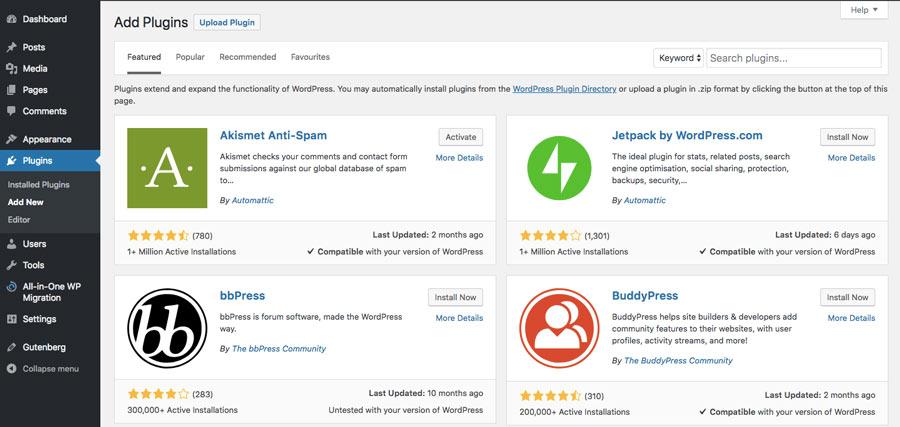 WordPress eklenti dizini