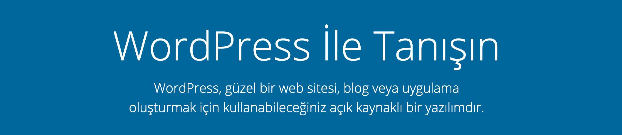 WordPress CMS sloganı
