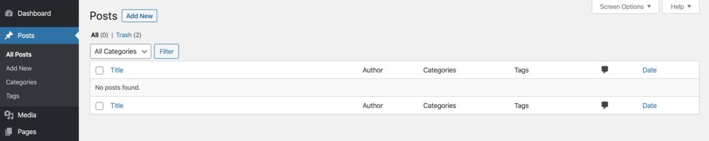 WordPress yazılar sayfasında gönderilerinizi oluşturabilirsiniz