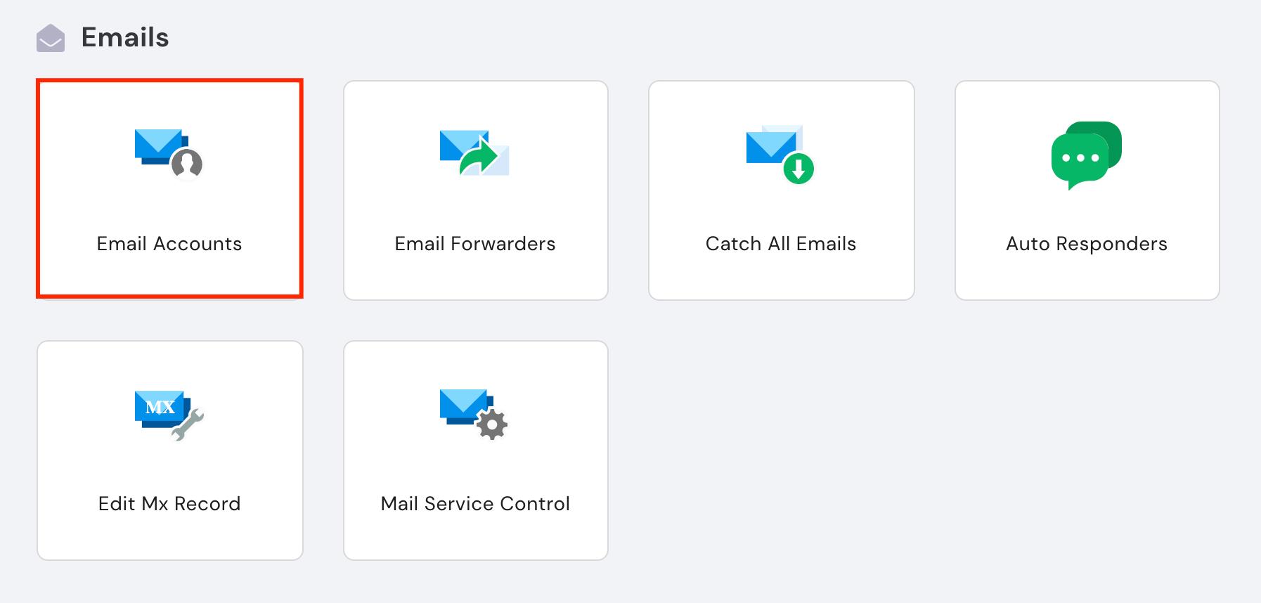 hPanel'de email hesabı bilgilerini bulma