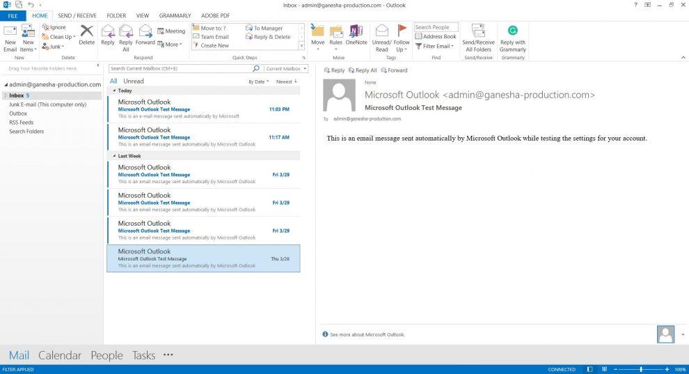 Microsoft Outlook 2013 arayüzü