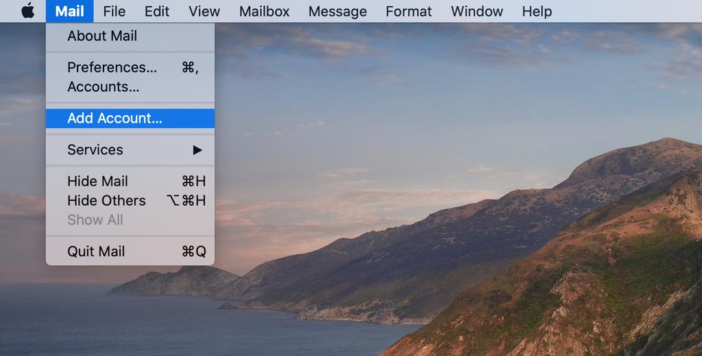 Mac Mail uygulamasını açma