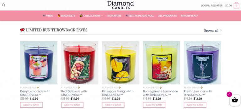 Diamond Candles - E-Ticaret Sitesi
