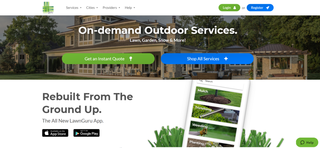 Lawn Guru: hizmet tabanlı B2C e-ticaret işletmesi