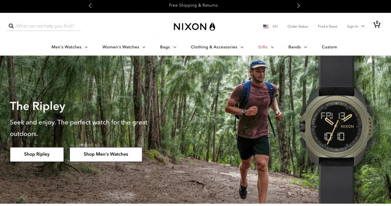 Nixon, e-ticaret sitesi örneği